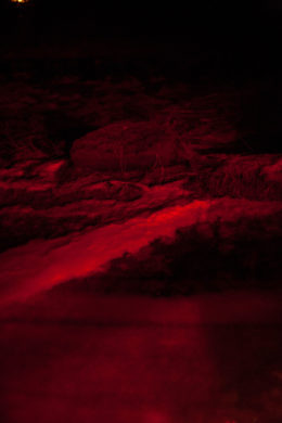 Iceland dream hallucination personal project snow rocks red car lights brake