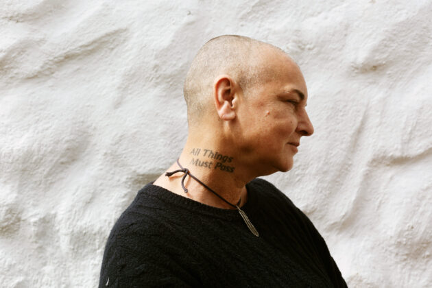 Portrait of Sinead OConnor at home