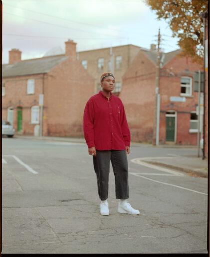 Portrait of Arlo Parks standing in Dublin